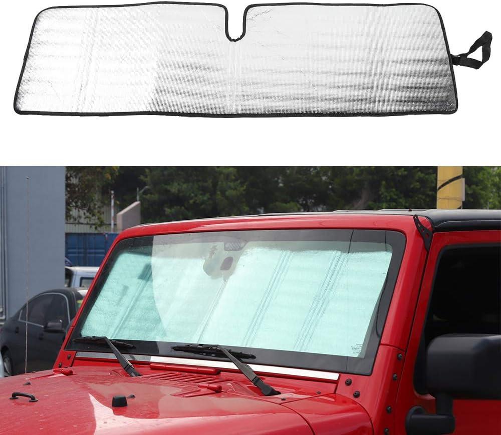 Car/átula Parasol para JK 2007-2017 KKmoon Parasol Parabrisas Coche UV Rays Protector parasoles