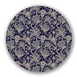 Uneekee Paisley Florescence Lazy Susan: Large, pure birch wooden Turntable Kitchen Storage