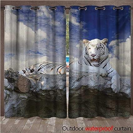 Amazon.com: Tiger - Cortina con ojales y diseño de ...