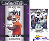 2017 Leaf Draft Football HUGE Factory Sealed 20 Pack Retail Box with TWO(2) AUTOGRAPHS & BONUS EXCLUSIVE 2016 Ezekiel Elliott RC! Box Includes (100) ROOKIE Cards of all the Top NFL Picks! WOWZZER!