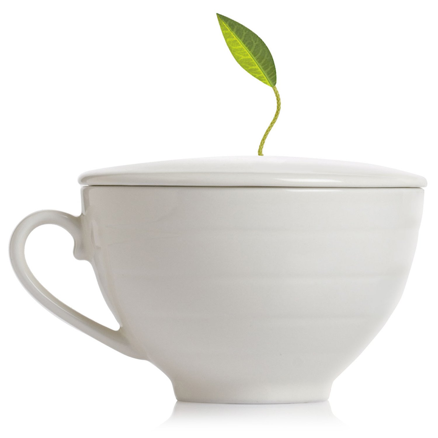 Tea Forte Cafe Cup Porcelain Tea Cup with Custom Cover for Steeping