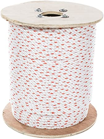 Poly Dacron Rope 3//4 inch UV 100 feet Abrasion /& Weather Resistant Marine Moisture Twisted 3 Strand Line with Polyolefin Core Commercial Arborist DIY Chemical - SGT KNOTS