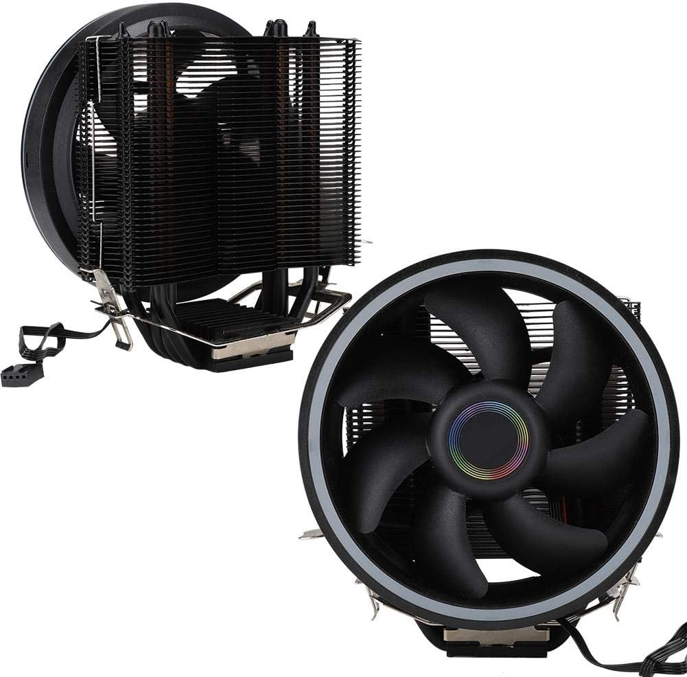 Kafuty para Great Wall S4 4PIN Computadora de Escritorio CPU Refrigeración Ventilador silencioso Radiador Enfriador con Colorido Efecto de lámpara RGB, Estampado Tridimensional, etc.