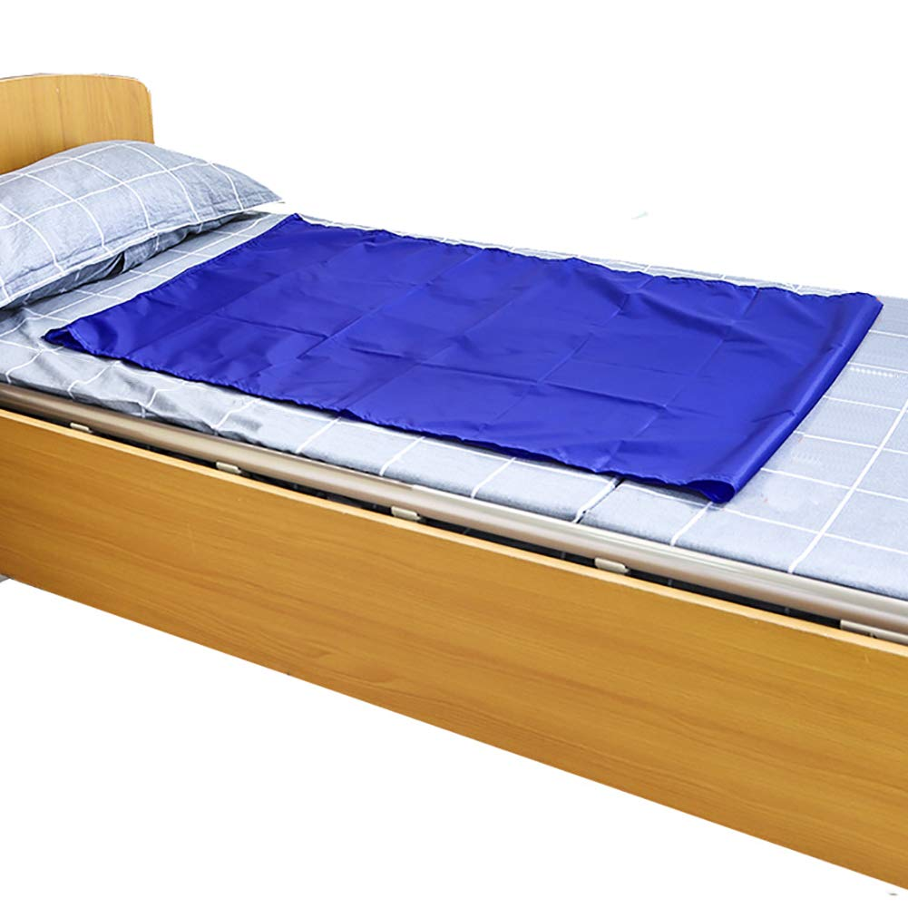 Reusable Flat Slide Sheet for Patient Transfer, Turning, and Repositioning in Beds, Hospitals and Home Care, Sliding Draw Sheets to Assist Moving Elderly and Disabled (Blue, 110X70 cm) by HNYG