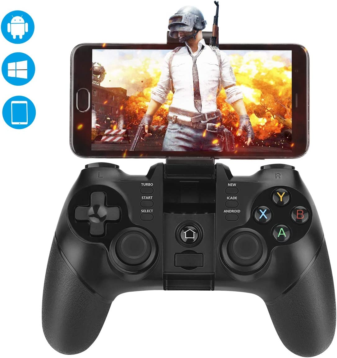Mando Inalámbrico, Achort Gamepad Bluetooth Mando PS3 Controlador de 2,4 GHz compatible con iOS, Windows PC, PS3, Smart-TV, Samsung VR, Smartphone / Tableta Android etc