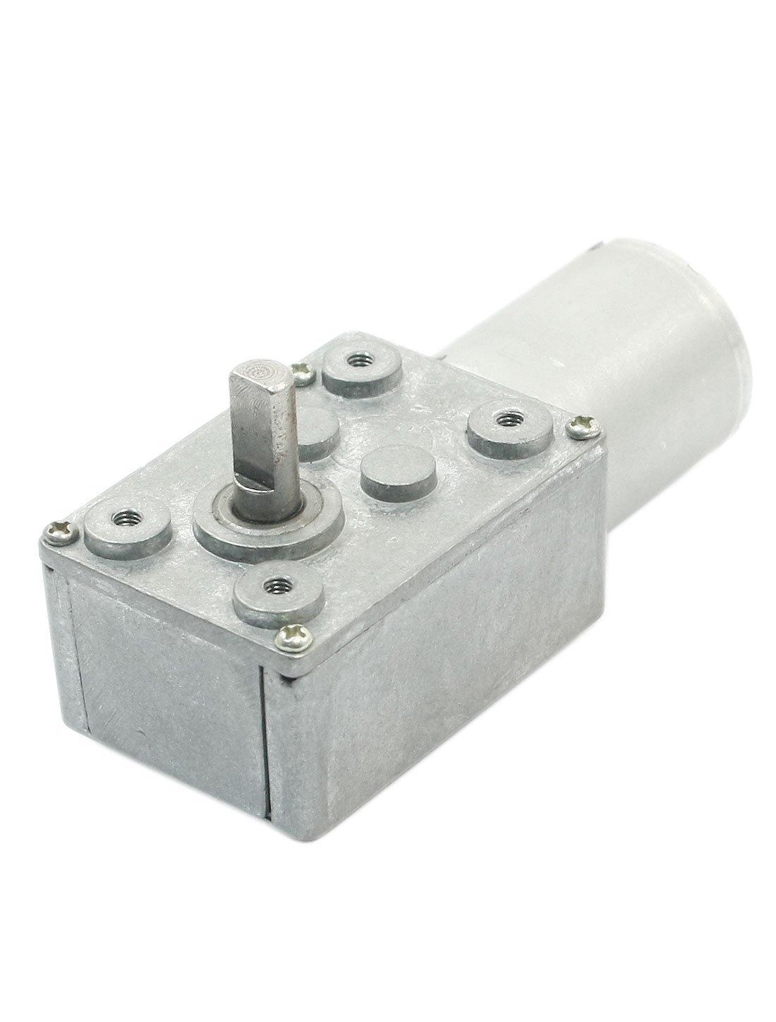 4, 5 mm D Eje Relación de reducción 8300RPM / 120 rpm DC 12V Worm Gear Motor - - Amazon.com