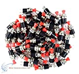 50 pcs Mini Push Button SPST Momentary N/O Switch Red 2 Pins 50 Pack NB-602