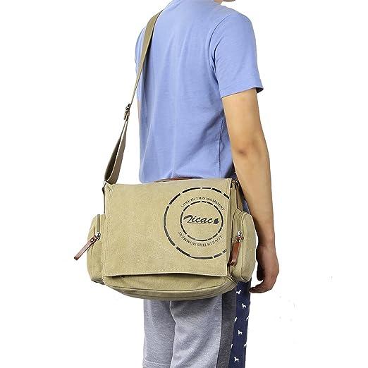 87 opinioni per Borsa uomo-borsa a Spalla per la Scuola Militare Tela Bag Tracolla Messenger