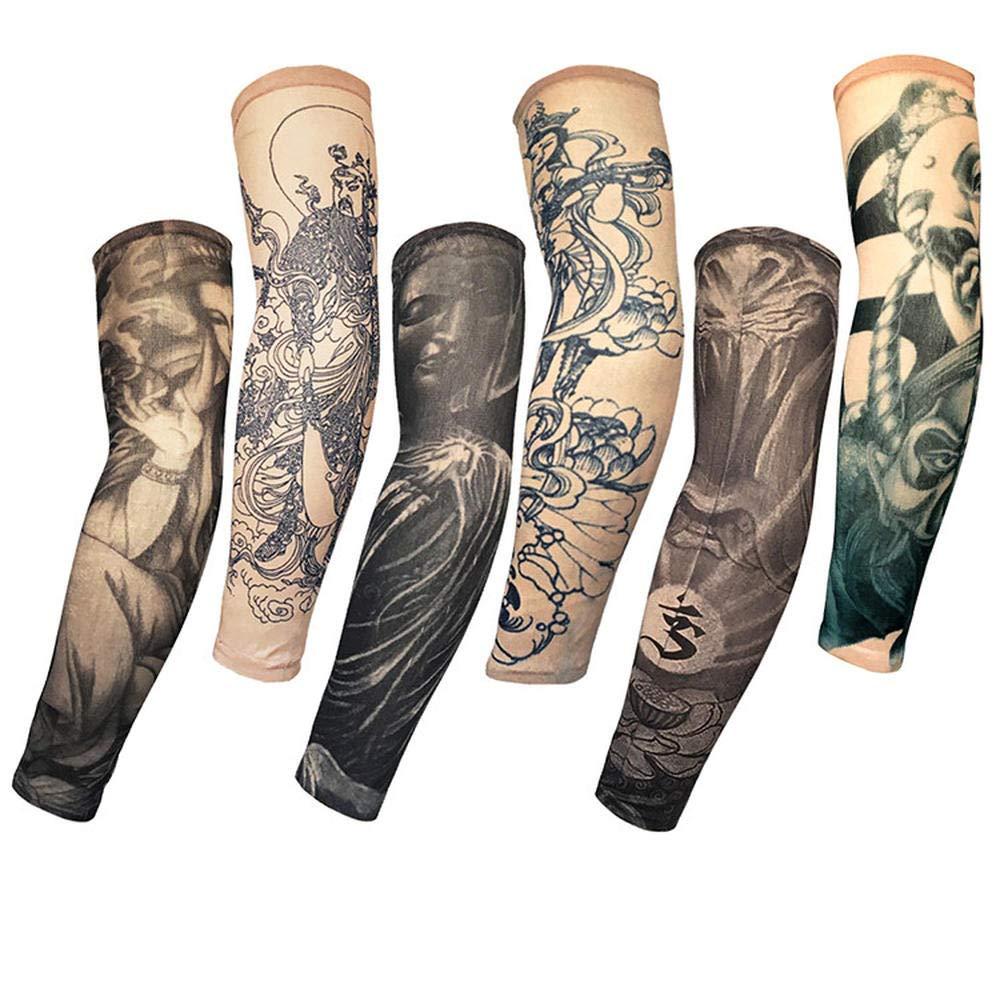 Mzqaxq Tattoo Sleeve 6 Unids/Set Largo Codo Pad Cuff Impresión del ...