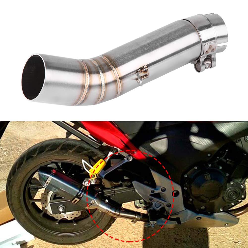 KIMISS Tubo medio de escape de la motocicleta Conector de enlace de escape para CBR500R CB500X CBR400R CB400X
