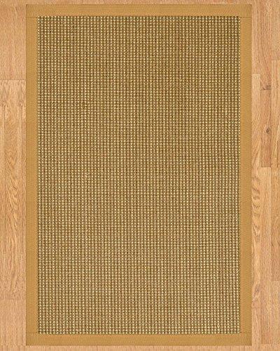(NaturalAreaRugs Crossroads Sisal Area Rug, Handmade in USA, 100% Sisal, Non-Slip Latex Backing, Durable, Stain Resistant, Eco/Environment-Friendly, (8'x10') Sage/Khaki Border)
