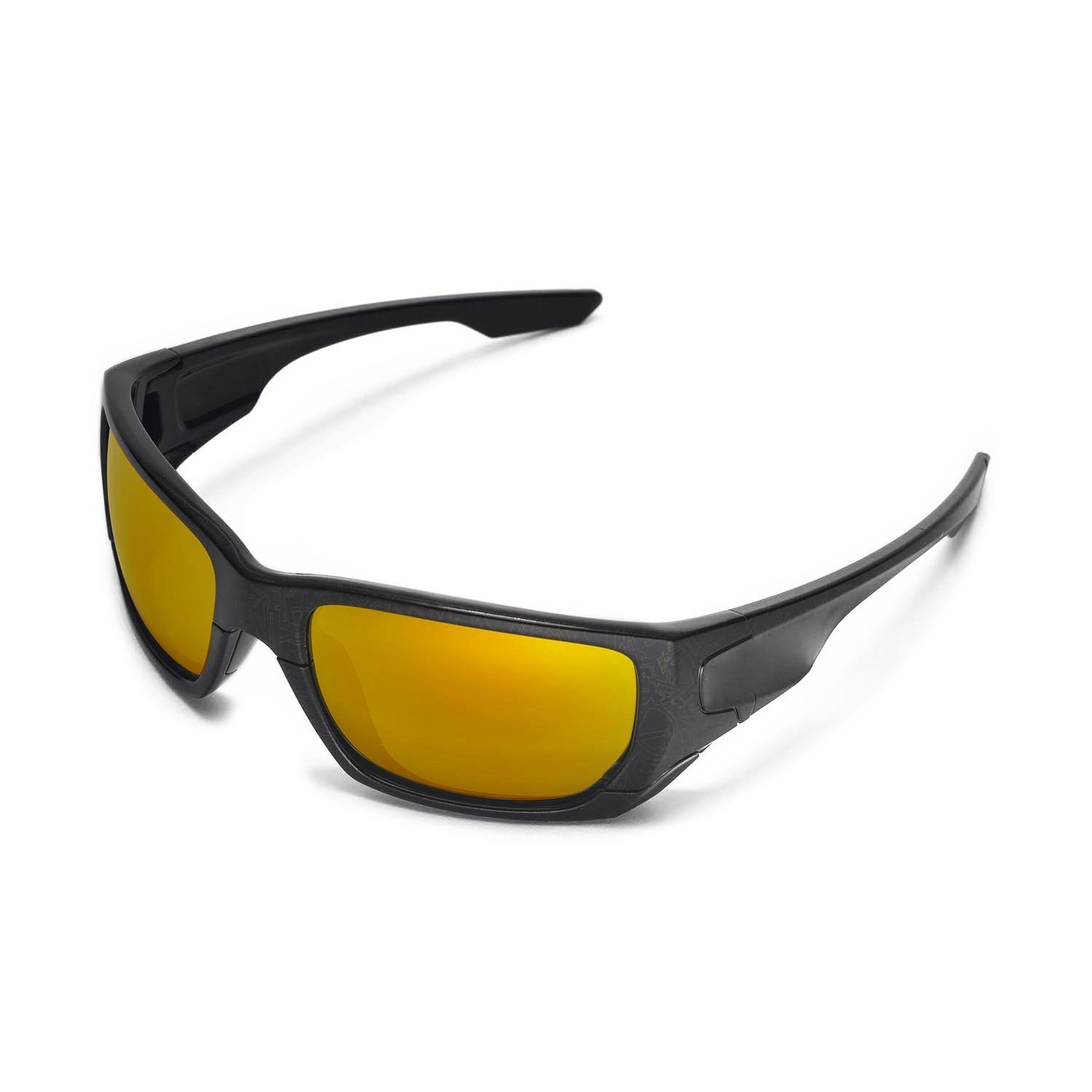 9a1d8400d9597 Amazon.com   Walleva Replacement Lenses for Oakley Style Switch Sunglasses  - 9 Options Available (24K Gold Mirror Coated - Polarized)   Sports    Outdoors