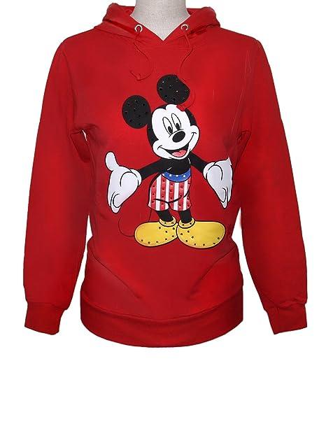 Disney Felpa CAPP. Ragazza, Ropa Interior de Deporte para Mujer, Rojo, S