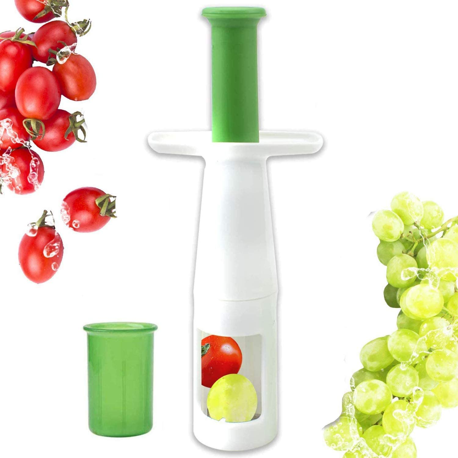 Grape Cutter, Tomato Cutter Fruit Vegetable Slicer for Creative Kids Party Kitchen Tool Accessories, Multifunctional Fruit Cut Tools for Salad Gadget and Baby Auxiliary Food