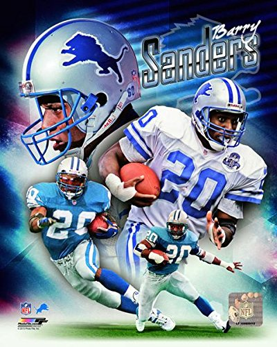 Barry Sanders Detroit Lions Composite Photo (Size: 8