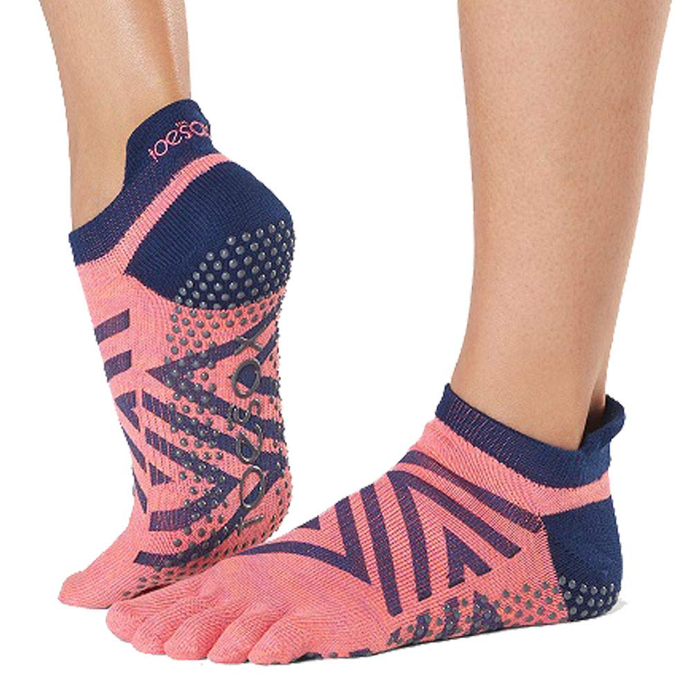 Toesox Womens Low Rise Full Grip Non-Slip For Ballet, Yoga, Pilates, Barre Toe Socks Calcetines, Mujer