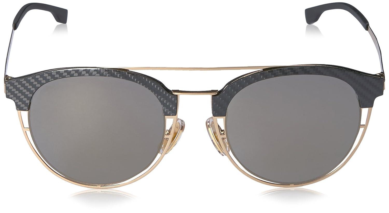 f91bb891b34 Amazon.com  BOSS by Hugo Boss Men s B0784s Round Sunglasses Gold Gray  Bronze Mirror 49 mm  Clothing