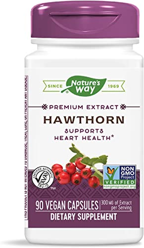 Nature s Way Hawthorn, 300 mg of Extract per Serving, 90 Capsules
