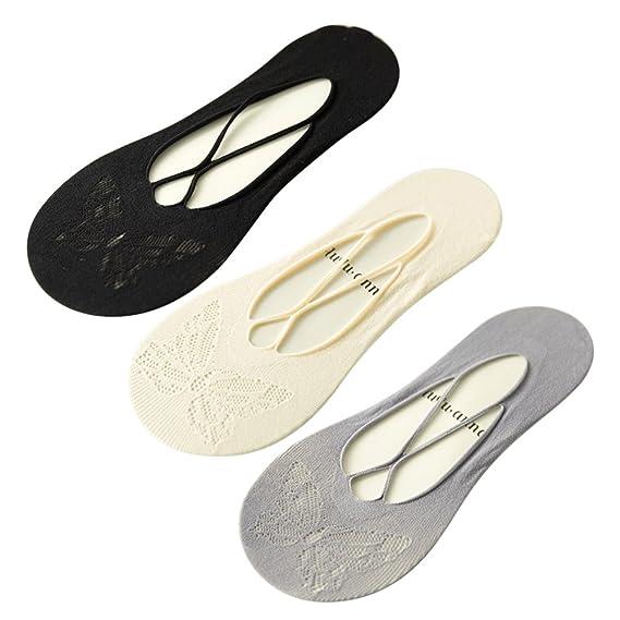 OULII Calcetines respirables de las mujeres Calcetines invisibles del corte bajo Cómodo No Show Calcetines 3