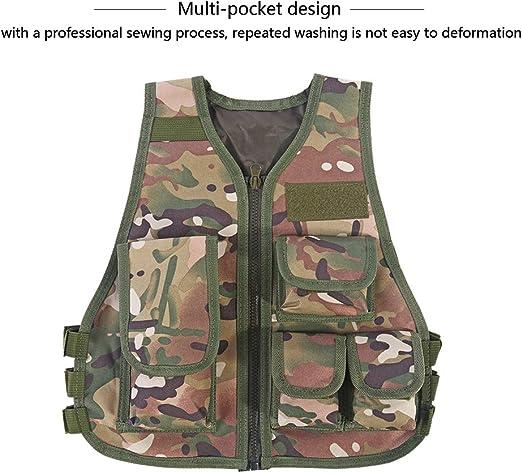 High Quality Children Enfants Camouflage CS Vest Games Training Nylon Vest New