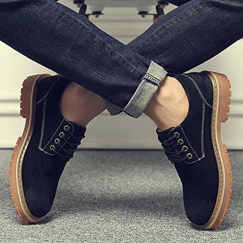 HL-PYL-Martin HL-PYL-Martin HL-PYL-Martin Stiefel Schuhe Stiefel niedrig Koreanischen britischen All-Match Nubuk Leder Schuhe 41 Schwarz c18fba