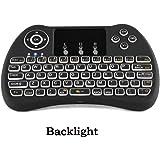 Tastiera Retroilluminata, Touchpad 2.4G Mini Wireless Tastiera Keyboard & Mouse Combo aria tenuto in mano portatile della mosca del mouse per Android TV Box, PC, Xbox 360, Smart TV, HTPC