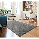 Dara Rugs 5007 Plush Grey Shag 8 x 10 Area Rug Carpet Large New