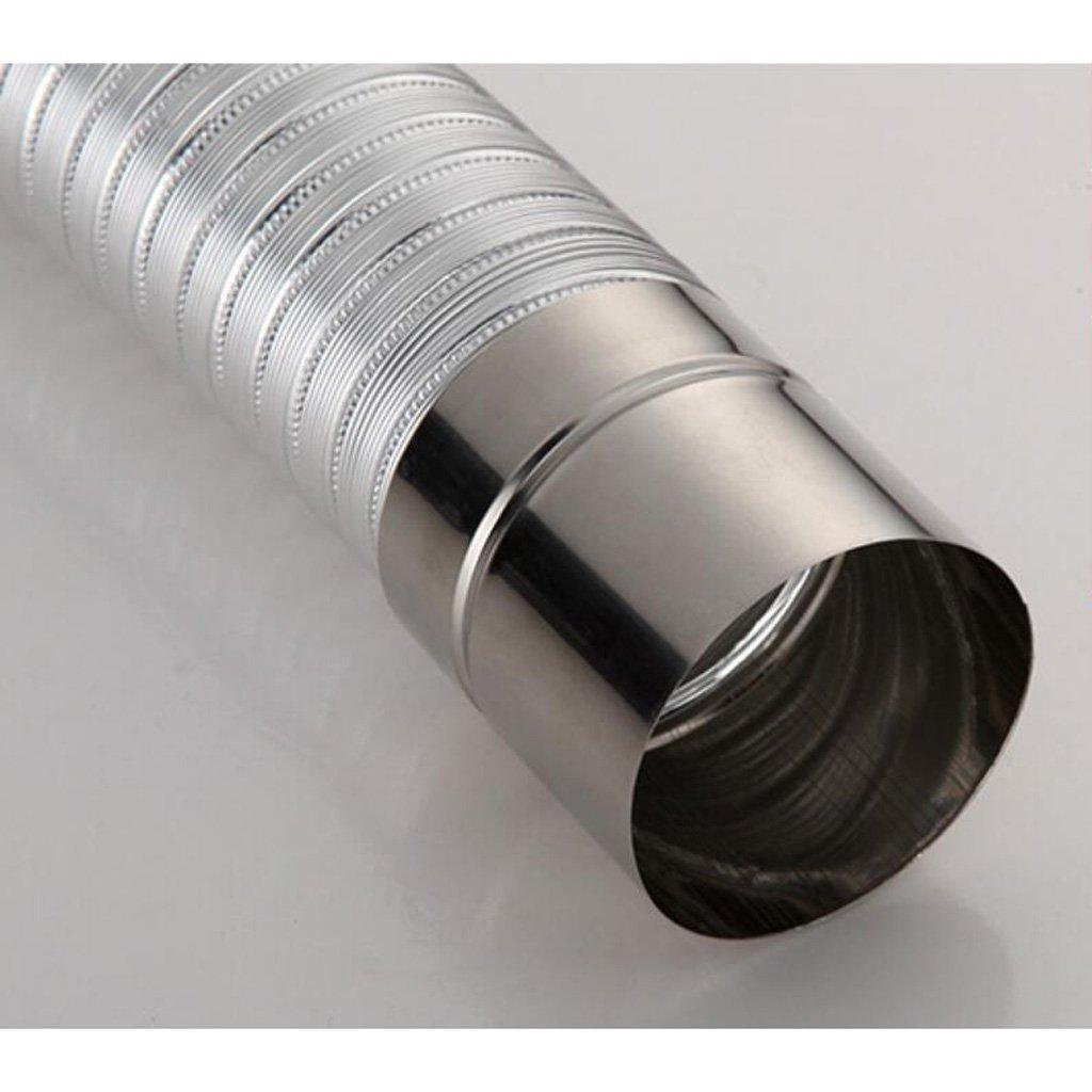 Wddwarmhome Strong Row Gas Riscaldatore di acqua in alluminio in acciaio inox Tubo di scarico telescopico 65-150cm dimensioni : Diameter 5 cm