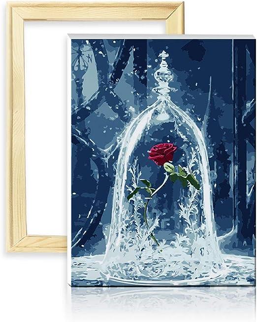 Dise/ño 25x35cm con Marco de Madera ufengke Kit Pintura de Diamantes 5D S/ímbolo Musical Punto de Cruz Diamante Completo DIY para Amantes del Arte