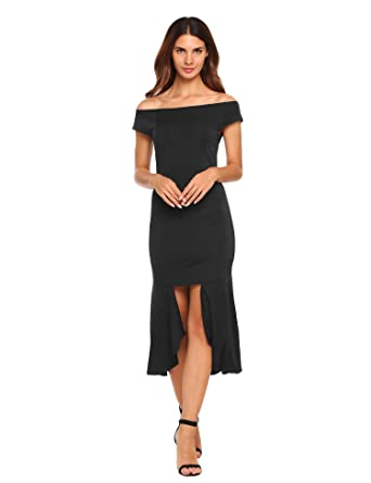 Asymmetrical Hem Maxi Dress