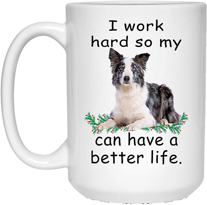 Ideal Gift from Reasons to Love Range Border Collie Mug Porcelain