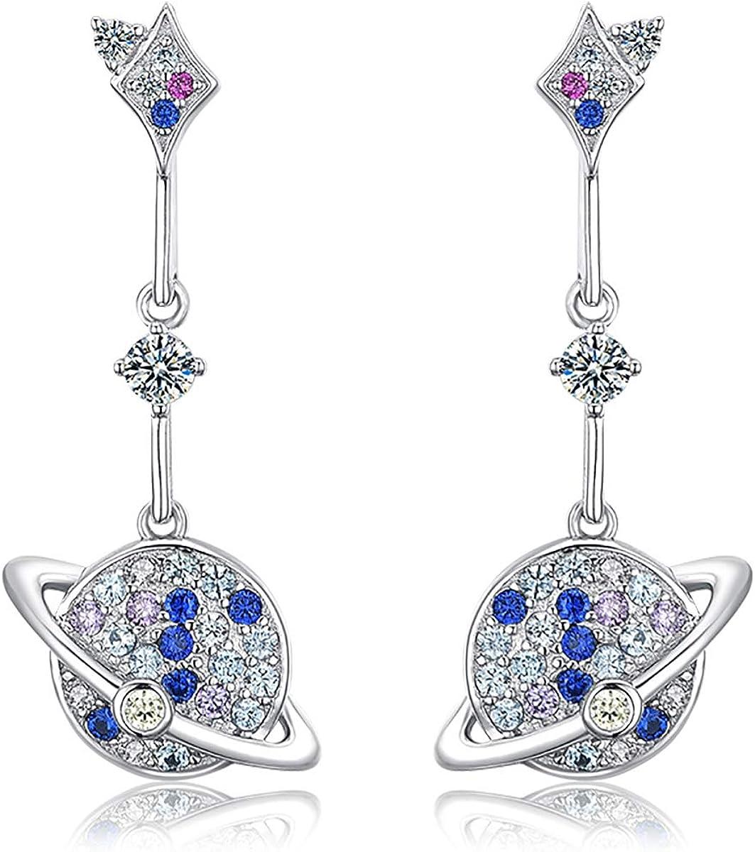 New Women Charm Drop Luxury Blue Rhinestone Earring Stud Dangle Earrings Gift