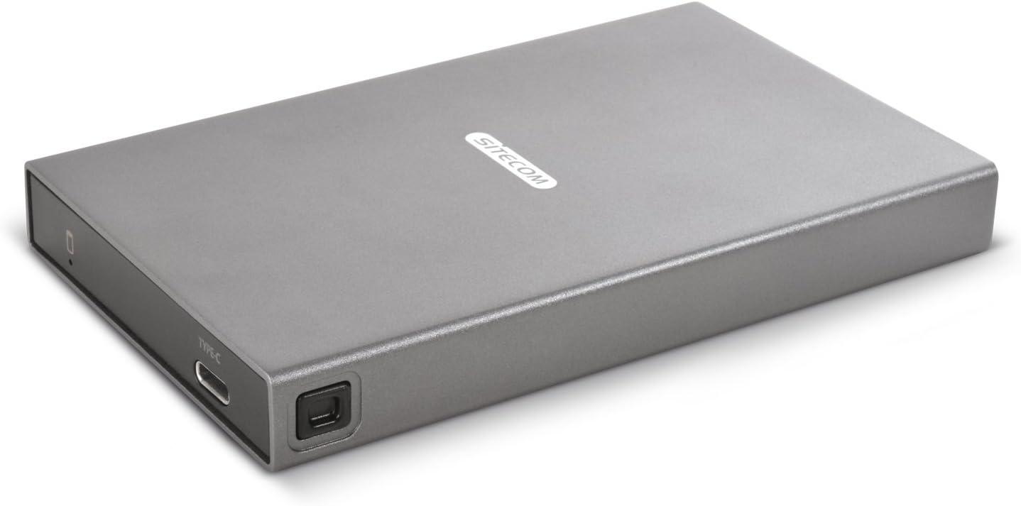 "Sitecom USB-C Hard Drive Case SATA 2.5 - Drive Enclosure for 2.5"" SATA Hard Drives - Works with Hard Disk Drives (HDD) and SSD"
