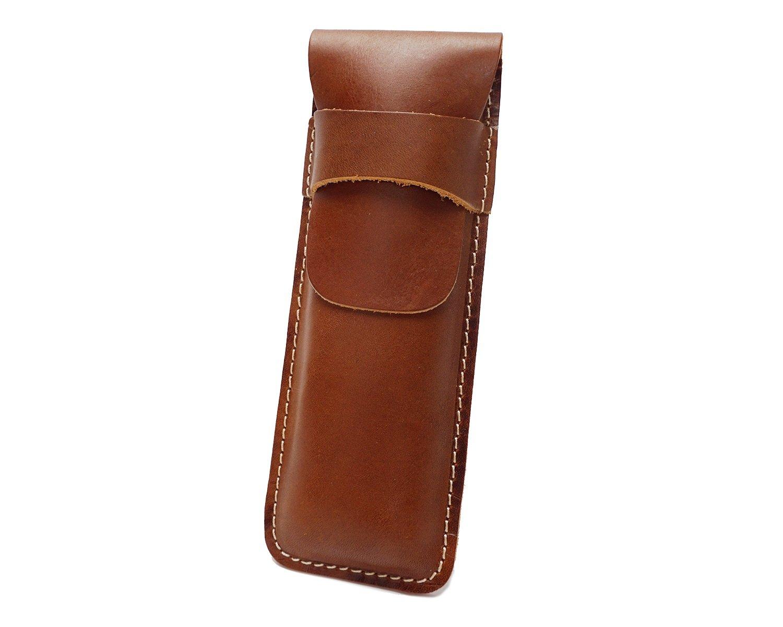 Color : Brass, Size : S MUMUWU Retro Bag Leather Cowhide Vertical Bag Buckle Unisex