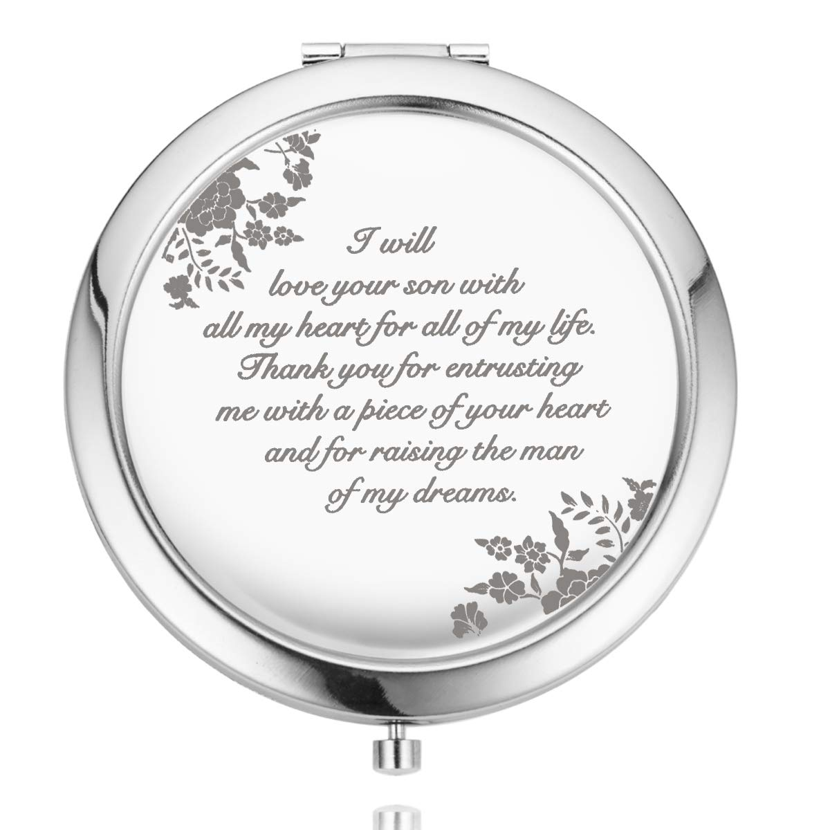 UOIPENGYI Mother of The Groom Gifts from Bride, Wedding Keepsake Gift, Engraved Gift Present (Mother of the Groom))