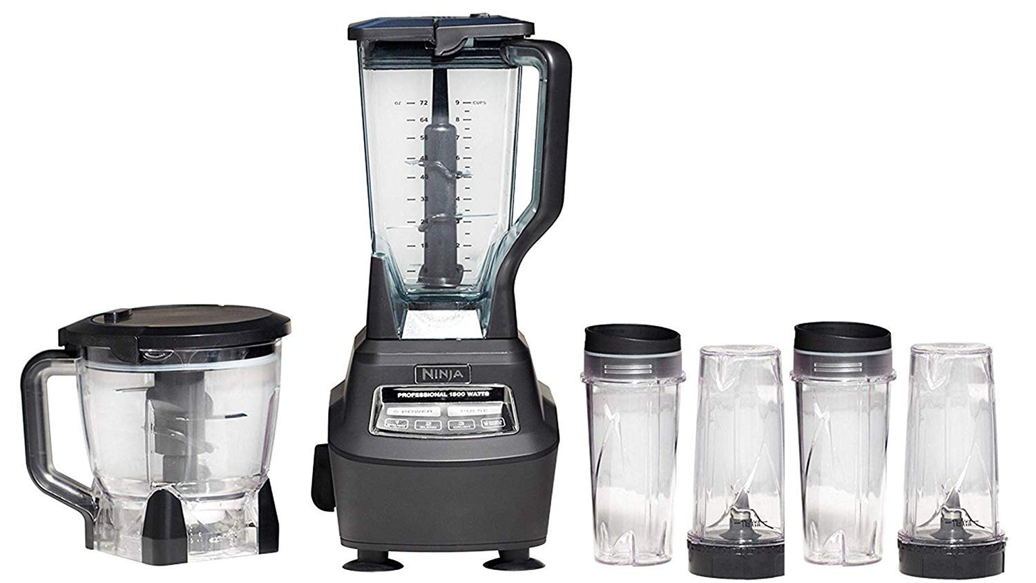 Ninja Mega Kitchen System (BL770) Blender/Food Processor with 1500W Auto-iQ Base