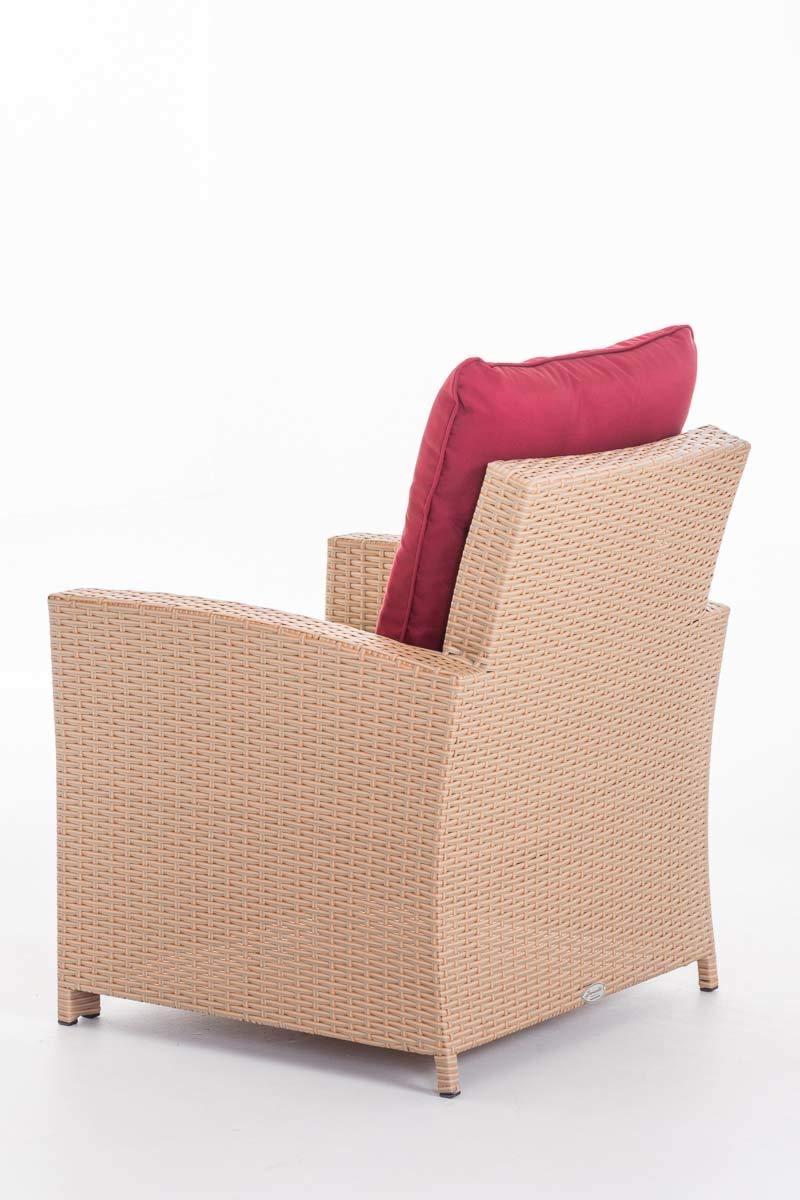 CLP Polyrattan-Sessel FISOLO inklusive Sitzkissen I Robuster Gartenstuhl mit Einem Untergestell aus Aluminium I erh/ältlich Grau Meliert anthrazit