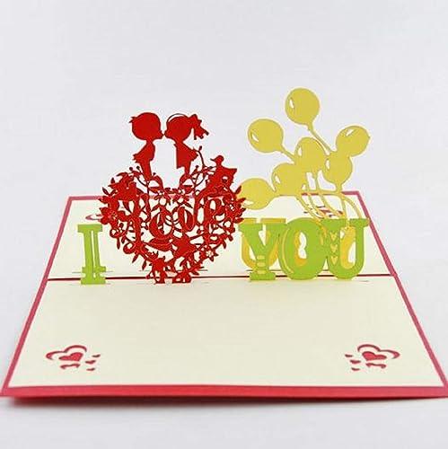 BC Worldwide Ltd hecho a mano tarjeta pop-up en 3D Te amo ...