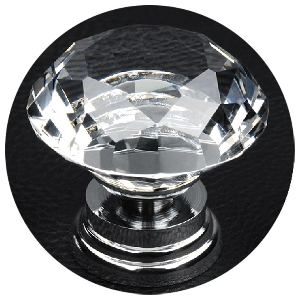 Trixes Diamant Glas Kristall Griff f/ür T/üren und Schubladen