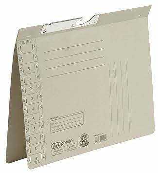 Elba 90421GR - Archivador colgante (texto en alemán, cartón Manila reciclado, 250 g/m², orificios o ranura troquelada, 50 unidades), color gris: Amazon.es: ...