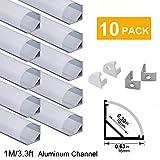 hunhun 10-Pack 3.3ft/1Meter V Shape LED Aluminum