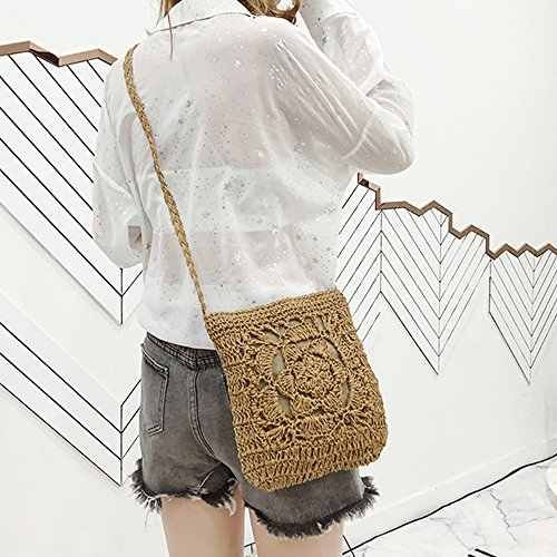 Shoulder Satchel Purse For Envelope Purse Olyphy Summer Straw Women