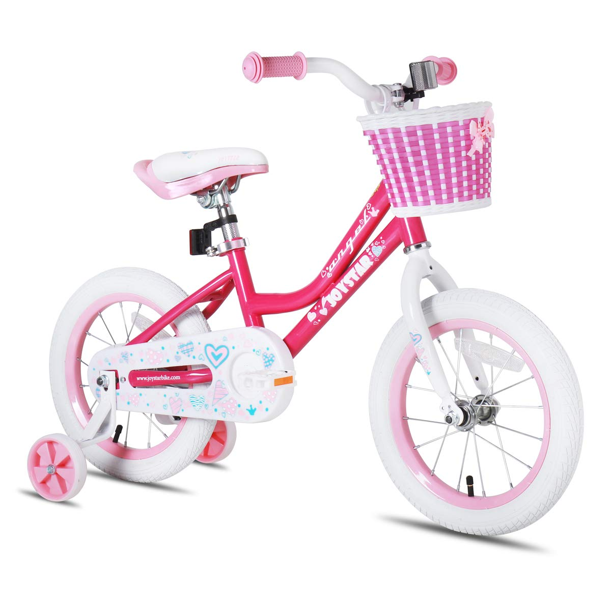 JOYSTAR Girls Bike with Training Wheels for 12 14 16 Inch Bike, Kickstand for 18 Inch Bike, Kids Cruiser Bike for 2-9 Years Old Girls product image