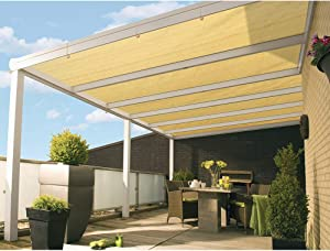 DOEWORKS Shade Cloth, 10'x20' UV Block Sun Shade Canopy with Grommets for Outdoor Pergola, Patio, Garden Deck