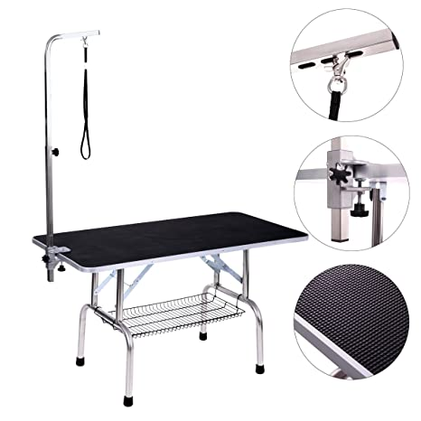amazon com dog grooming table adjustable arm and clamp for pet rh amazon com
