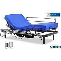 Gerialife® Pack Cama articulada eléctrica | Colchón Sanitario