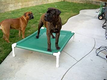 Outdoor Mesh Raised Dog Bed, Elevated Dog Bed, Large Dog Bed, Waterproof Dog