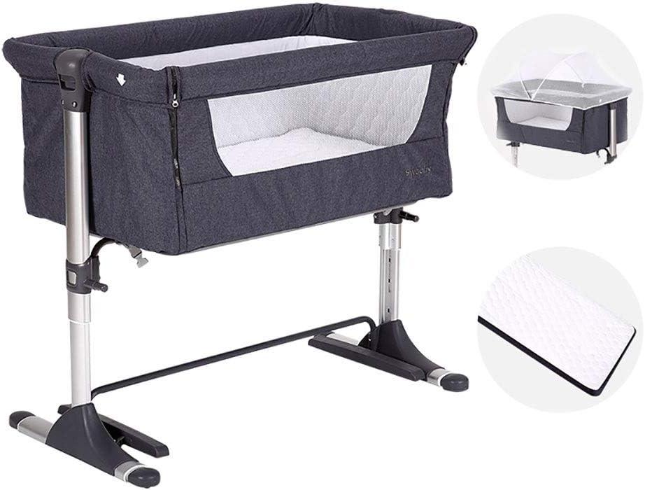 XM-ベビーベッド ベビーベッド 折り畳み式ベビーベッド旅行ポータブル多機能折りたたみ新生児用クレードルベッド (Color : Gray)