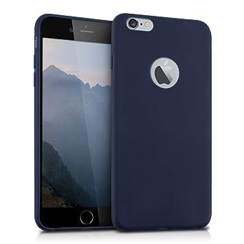 kwmobile Funda para Apple iPhone 6 Plus / 6S Plus - Carcasa para móvil en [TPU Silicona] - Protector [Trasero] en [Azul Oscuro Mate]