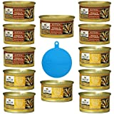 nutro max canned cat food - Nutro Max Cat Canned Kitten Food 2 Flavor Variety Bundle: (6) Chicken & Ocean Fish Formula and (6) Chicken & Liver Formula, 3 Oz Each (12 Cans Total) Plus 1 Pet Buddies Cat/Dog Food Silicone Can Cover